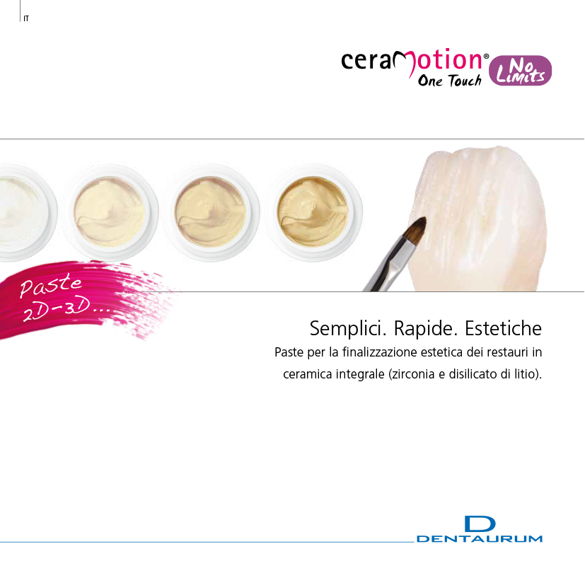 ceramica dentale ceraMotion One Touch No limits